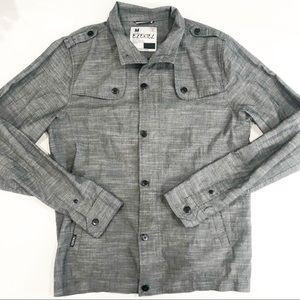 EZEKIEL long sleeve gray button down shirt